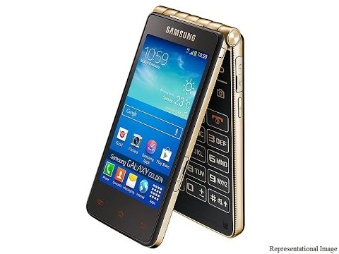 Samsung Galaxy Golden 3 Android Flip Phone with 4G support - YouTube