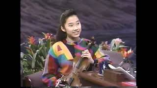 """Sarah Chang performs """"Sabre Dance"""" on The Tonight Show with Jay Leno - 11/26/92"""