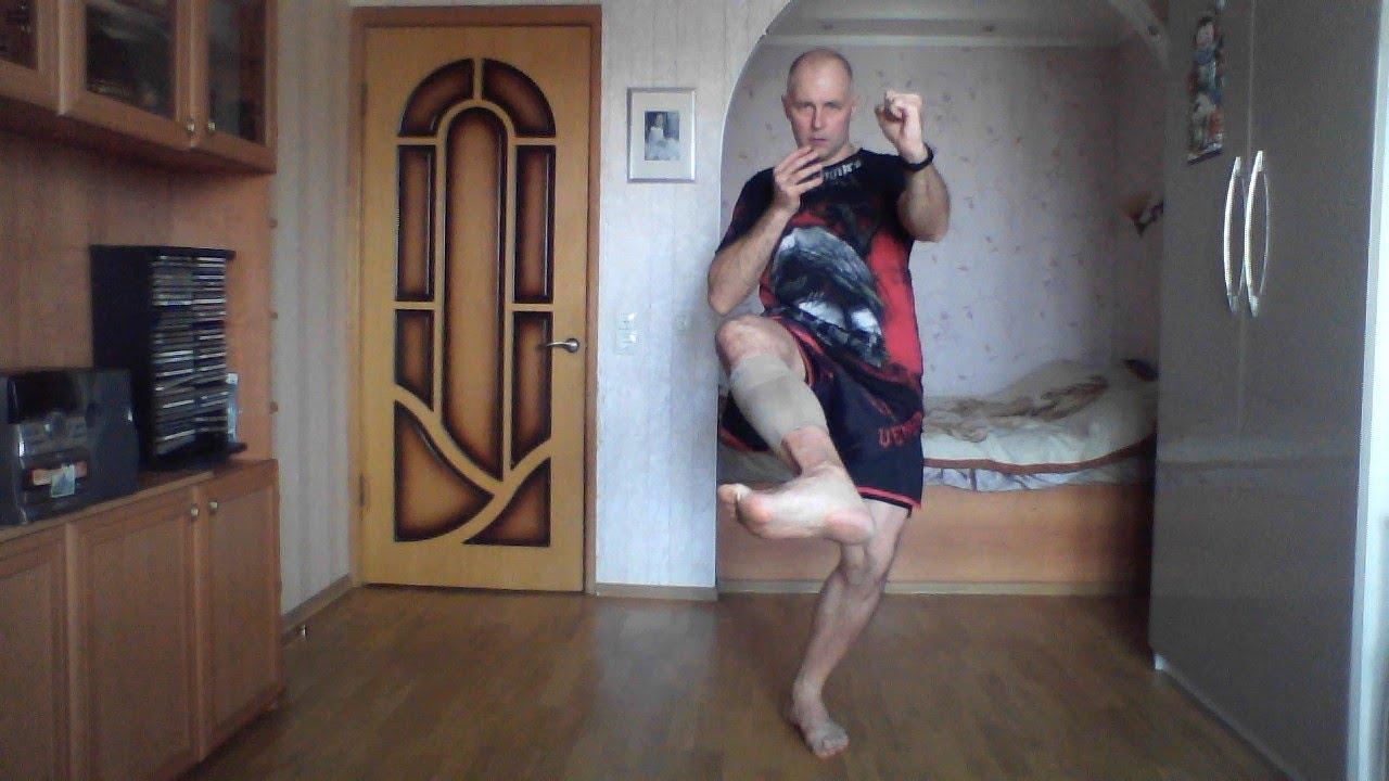 Серийные удары ногами, часть 6 блоки ногами с последующим ...