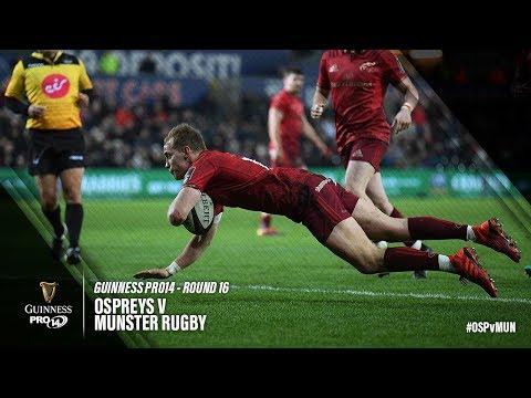 Guinness PRO14 Round 16 Highlights: Ospreys v Munster Rugby