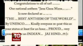 Indian National Anthem getting recognition as Best anthem by UNESCO is a fake news