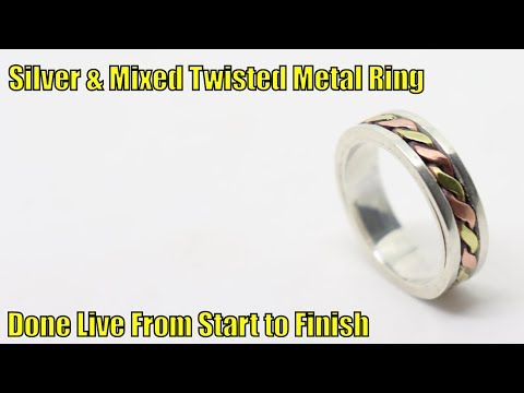 Silver & Mixed Twisted Metal Ring - Done Live From Start to Finish