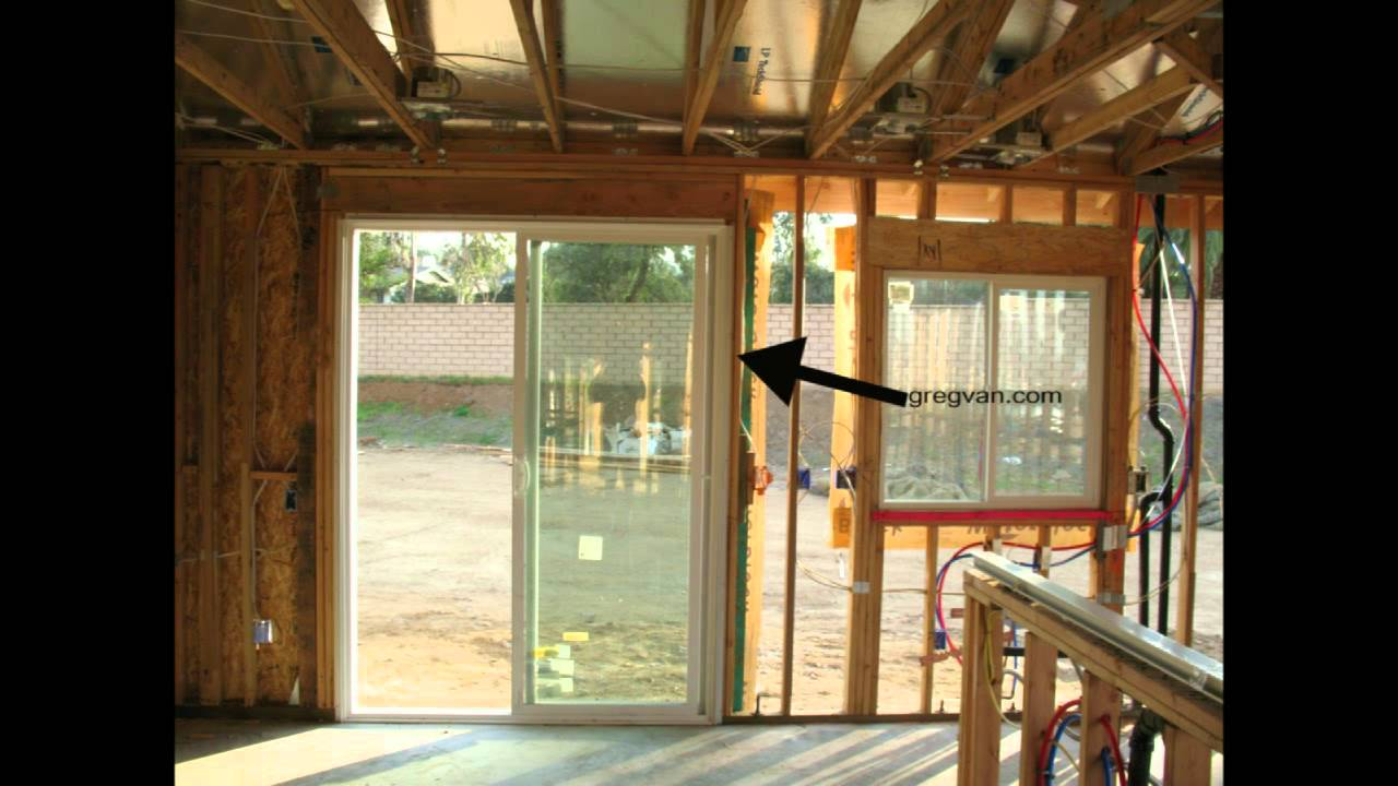 How To Frame An Opening For A Sliding Glass Door Framess