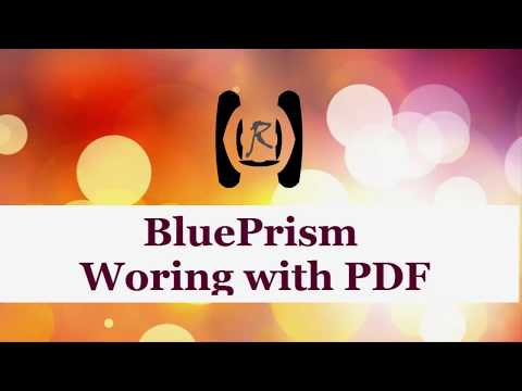 BluePrism - Working with PDF || Reality & Useful
