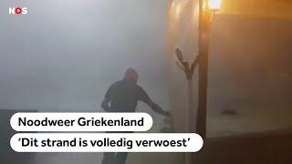 Bizarre beelden: noodweer in Griekenland zorgt voor doden en veel schade