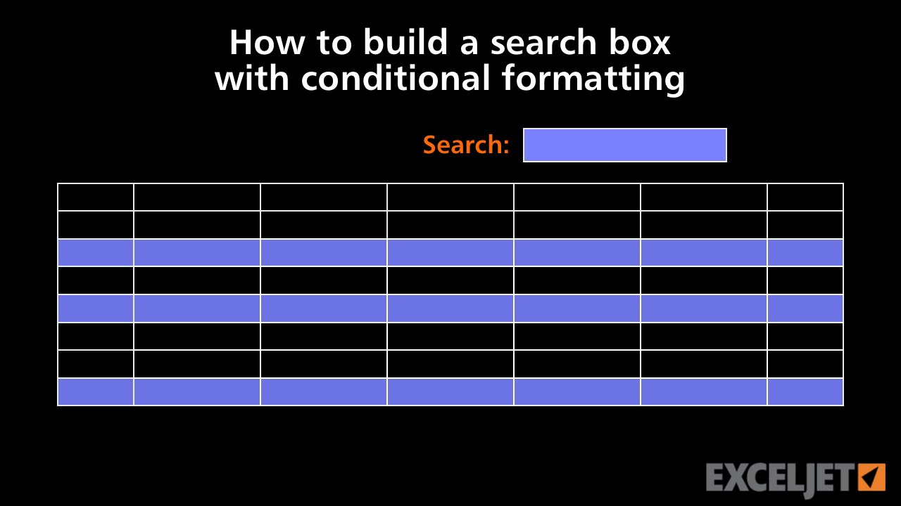 how to build a search box with conditional formatting  youtube.