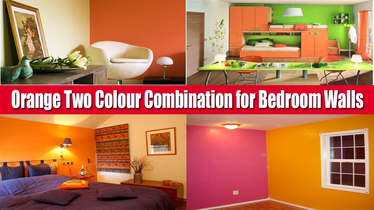 Top 10+ Orange Two Colour Combination for Bedroom Walls  Ceiling Colour  Combination