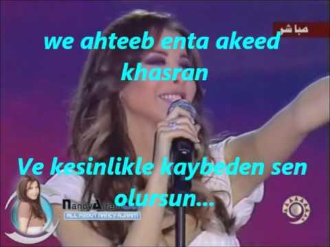 Nancy Ajram Ah We Nos Turkish Subtitle.wmv