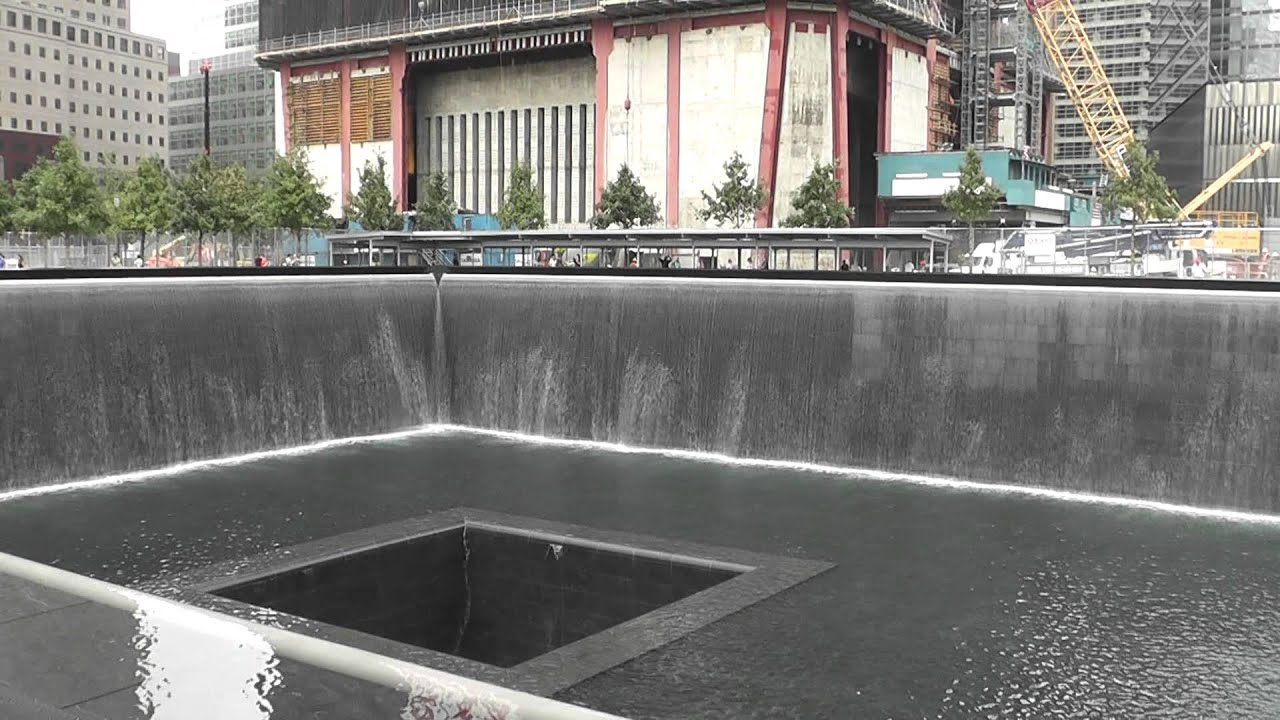 wtc 911 memorial north tower 1 waterfall fountain freedom tower backround - Waterfall Fountain