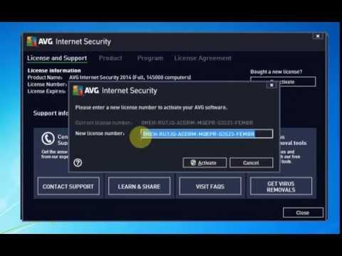 avg antivirus key till 2018