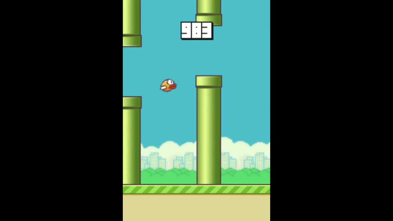 Flappy Bird - World record score? 1123 POINTS - YouTube