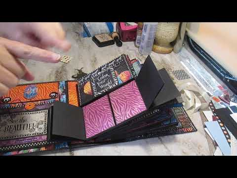 """Scrapbooking grand album """"Kaleidoscope"""" from Graphic 45's collection"""