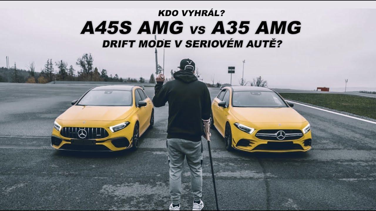 Nejsilnější seriový čtyřválec na světě! l Souboj mercedesů A45s AMG vs A35 AMG l Drift mode?!?
