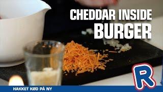 Cheddar inside Burger