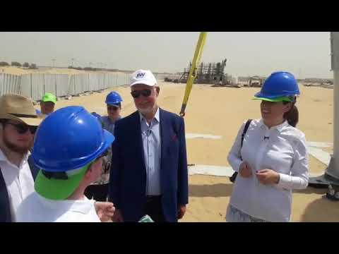 Chủ tịch Skyway – Unitsky tại công trường Dubai