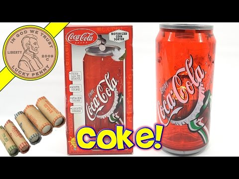 Coca Cola Coin Sorting Bank - Sorts, Counts, Enjoy A Coke!