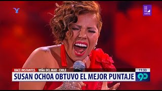 Susan Ochoa volvió a obtener el primer puesto en Viña del Mar
