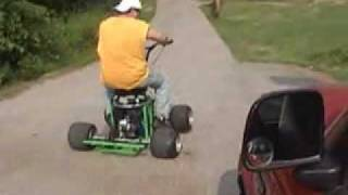 Bar Stool Racer Shawn Riding Wheelies