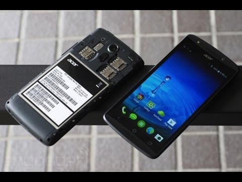 Acer Liquid E700, three SIM slot travelers phone hands on !