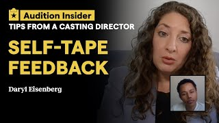 Casting director daryl eisenberg reviews an example self-tape, submitted by actor and backstage member henardo rodriguez. eisenberg's biggest note? make sure...