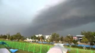 サマソニ大阪2012 落雷の瞬間 18.08.2012 summer sonic on the thunderbolt struck by lightnin