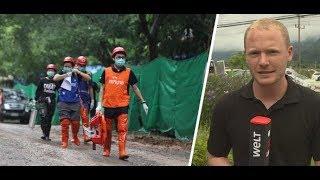 HÖHLENDRAMA IN THAILAND:Rettung der letzten fünf Eingeschlossenen läuft
