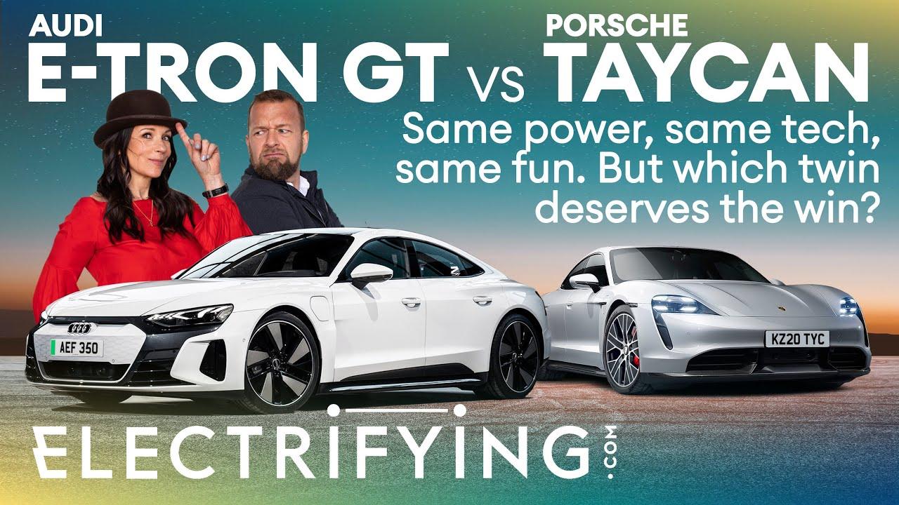 Audi e-tron GT vs Porsche Taycan – Same Power, Same Tech, Same Fun. Which one wins? / Electrifying