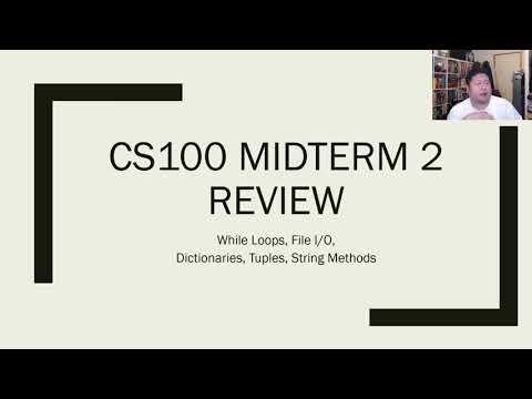 NJIT CS100 Midterm 2 Review (31 March 2018 7.30PM ET)