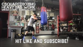 Hitting the Heavy Bag with Unique Luxury Boxing Gloves