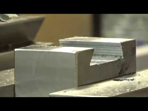 Cutting A Dovetail in Steel With A Shop Built Hand Metal Shaper