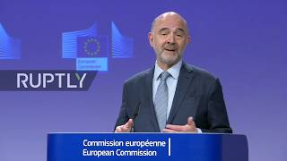 LIVE: EU finance chief Moscovici holds press conference on Brexit customs preparations