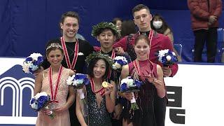 Церемония награждения. Пары. NHK Trophy. Гран-при по фигурному катанию 2019/20