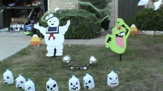 Halloween Yard Art Layout