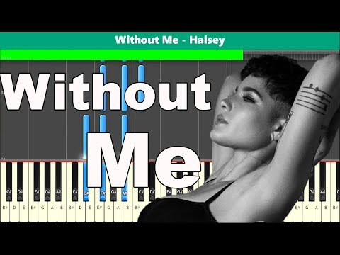 Without Me Piano Tutorial - Free Sheet Music (Halsey) thumbnail