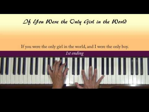 If You Were the Only Girl in the World Piano Tutorial at Tempo