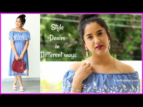 How to Style Denim in different ways ft. Voonik | Denim Lookbook | Perkymegs