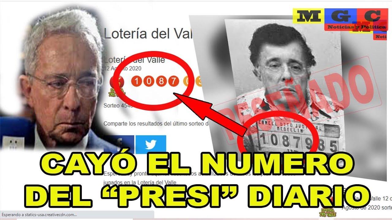 """CAYÓ EL NUMERO DEL """"PRESI"""" DIARIO #1087985 LOTERÍA DEL VALLE"""