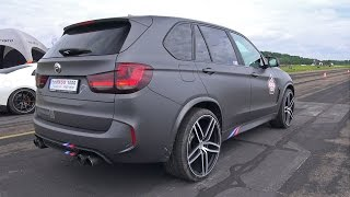 BMW X5 M G-POWER - REVS & DRAG RACE!