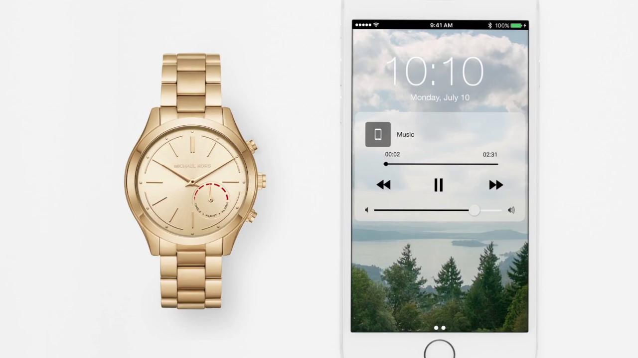 Michael Kors Zugang hybride Smartwatch | Pre-Set-Schaltflächen anpassen