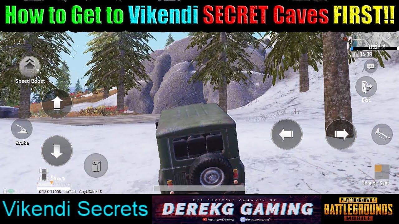 How To Reach Vikendi Secret Caves First In Pubg Mobile Vote For Derekg Pmsc 2019 Youtube