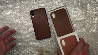 Gambar cover Эффект старины или плохое качество кожи? Apple leather case
