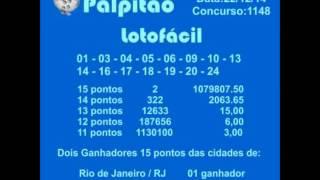 LOTOFACIL CONCURSO 1148  22122014