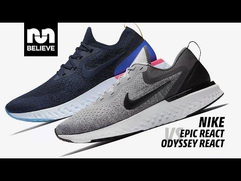 Nike Epic React vs Odyssey React YouTube