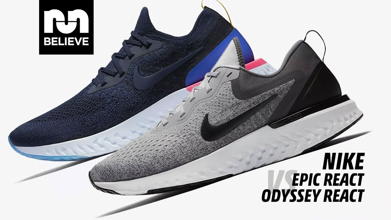38ba3a334a21 Nike Epic React vs Odyssey React - YouTube
