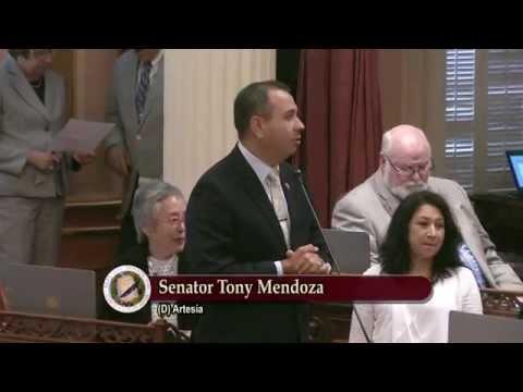 CA Senate Welcomes the Family of Senator Tony Mendoza
