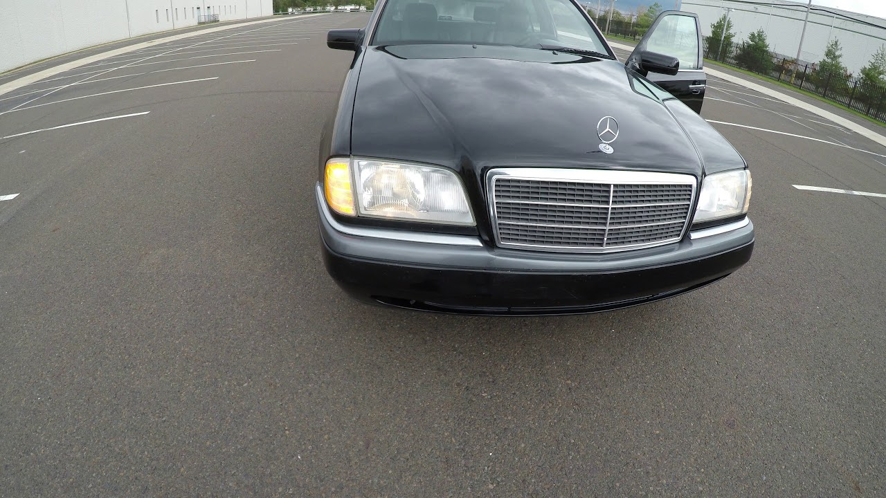 medium resolution of 4k review 1995 mercedes benz c220 black virtual test drive walkaround