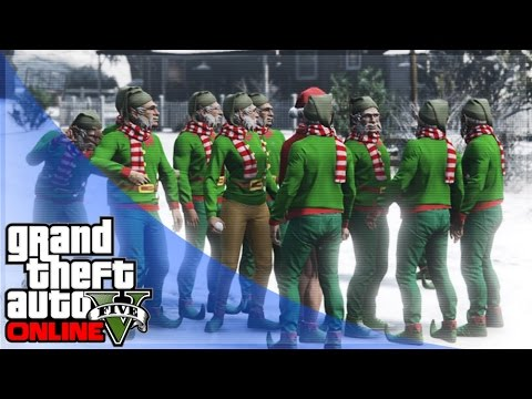 GTA 5 Online Holiday DLC - Snowball Fights & Snow Races! (GTA 5 Funny Moments)