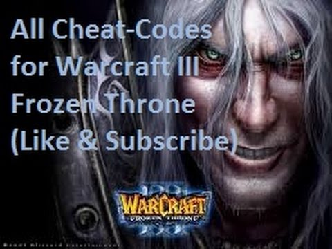 All Cheat Codes For Warcraft III: The Frozen Throne