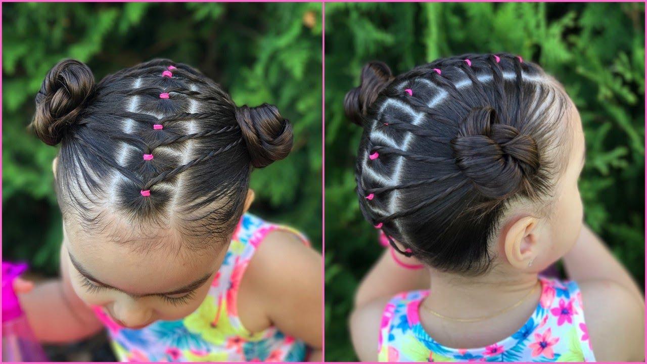 Peinado facil y rapido para ni as con ligas y coletas - Peinados de ninas ...