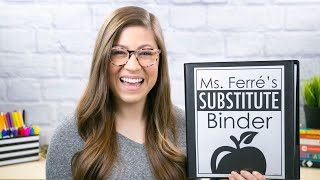 How to Create a Substitute Binder | Tutorial for Teachers